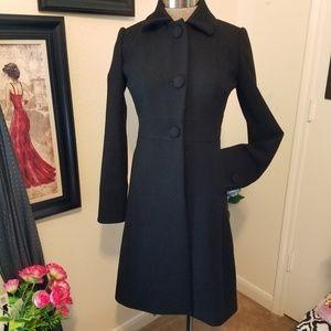 J. Crew Long  Jackets & Coats | 100%  Wool Sz.0